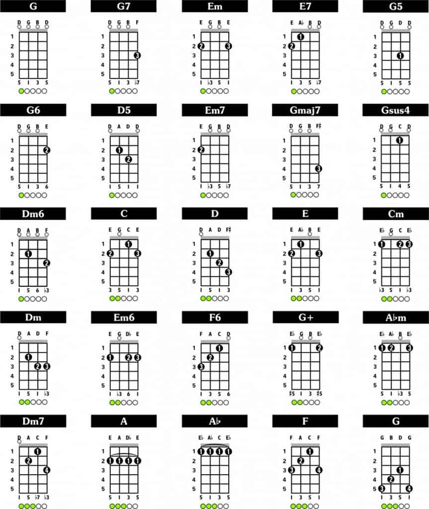 A Guide to Playing 15 String Bluegrass Banjo Chords – Fret Expert