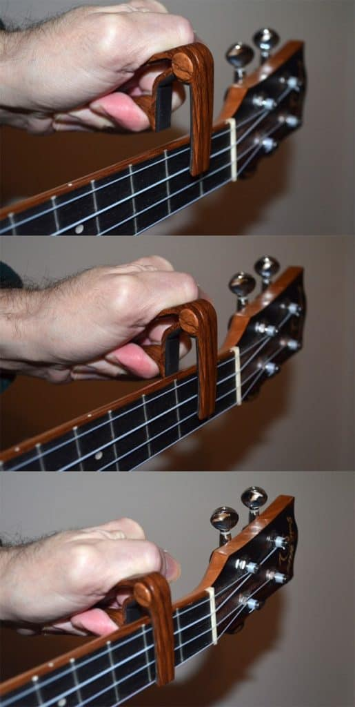 how to put a capo on a ukulele in three steps