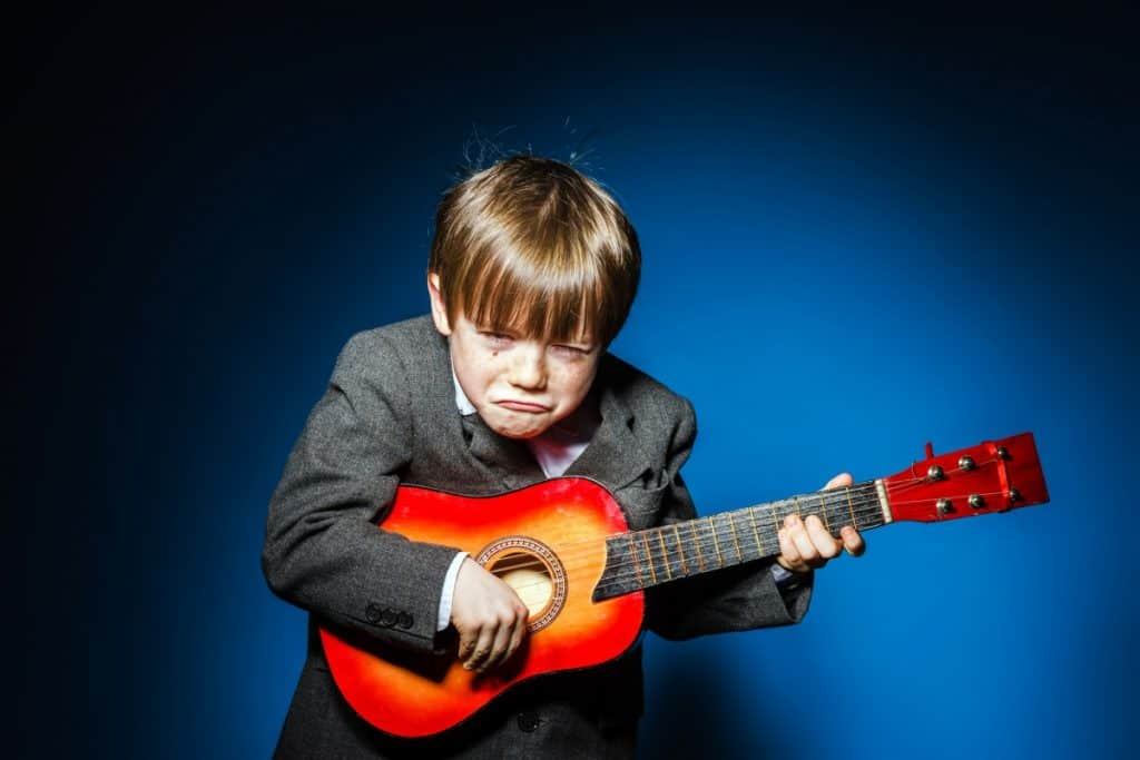 unhappy ukulele kid