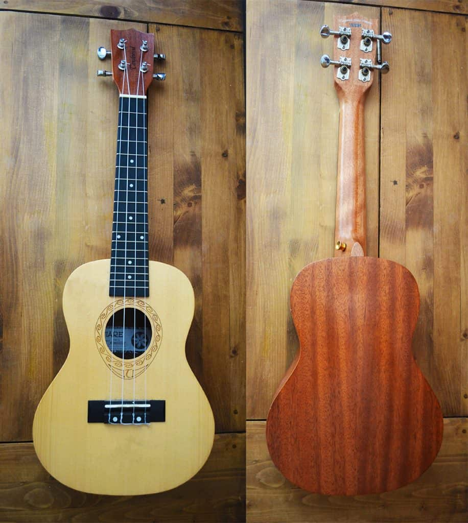 front and back of Tanglewood Tiare TWT4 Concert Ukulele